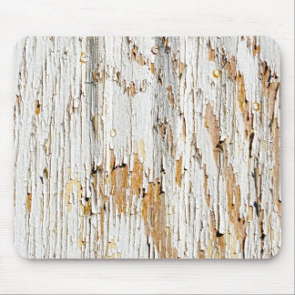Peeling White Paint Abstract Mouse Pad