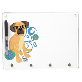 Peep Pets- Puppy Dry Erase Board With Keychain Holder