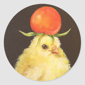 Peep with tomato hat stickers