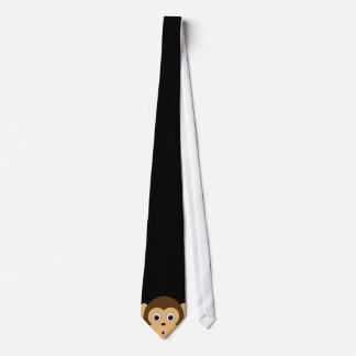 Peeping Monkey Tie