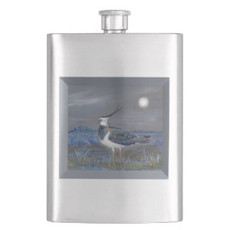 Peewit Lapwing countryside castle Hip Flask