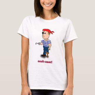 Peg-leg Pirate ladies baby doll T-Shirt