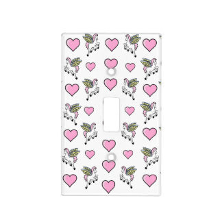 Pegasus and Hearts Light Switch Cover