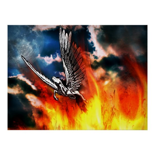 Pegasus - courage, strong wings and a pure heart poster