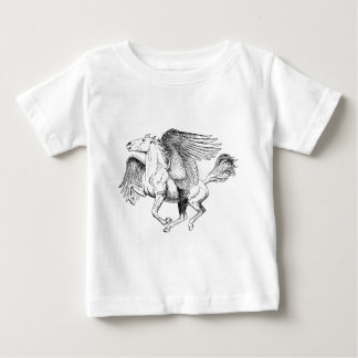 Pegasus drawing - Flying Horse with Wings Baby T-Shirt