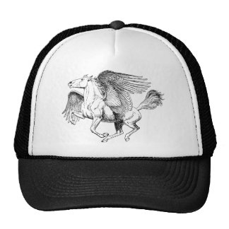 Pegasus drawing - Flying Horse with Wings Trucker Hat