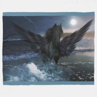Pegasus Fantasy on Fleece Blanket
