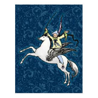 Pegasus Flying Horse Fantasy Postcard