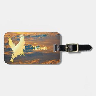 Pegasus Flying Into Sunrise Luggage Tag