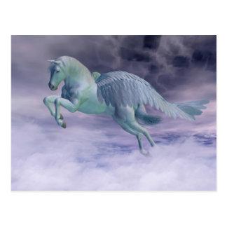 Pegasus Galloping through Storm Clouds Postcard