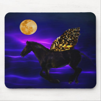 Pegasus golden horse with wings mouse pad