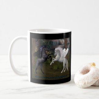 Pegasus Horses Even A Beast Can Be Subdued By Love Coffee Mug