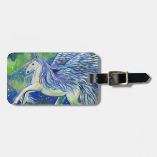 Pegasus In Northern Light Luggage Tag