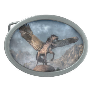 Pegasus Oval Belt Buckle
