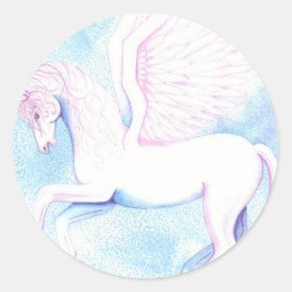 pegasus round sticker