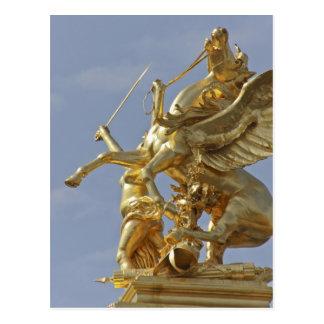 Pegasus statue at the Pont Alexander III bridge Postcard