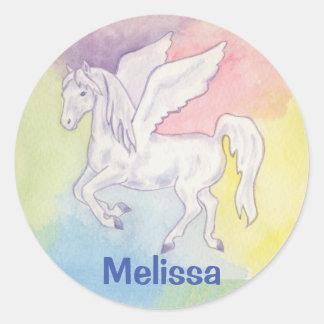 Pegasus sticker with child's name
