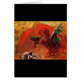 """Pegasus & the Hydra"" by Odilon Redon Greeting Card"