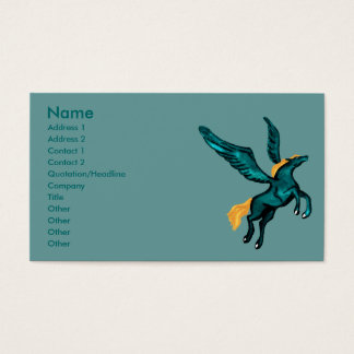 Pegasus (Turquoise) Business Cards