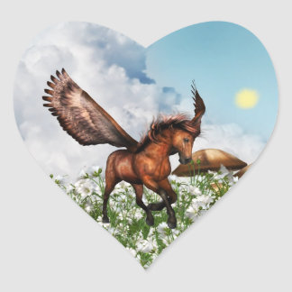 Pegasys in a Field Stickers