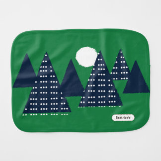 Pegeo Camping Green Navy Polka Dots Burp Cloth