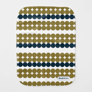 Pegeo Lemon Circles Olive Green Navy Burp Cloth