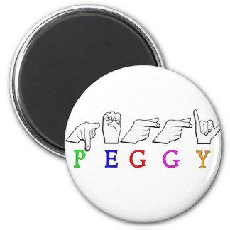 PEGGY FINGERSPELLED ASL NAME SIGN MAGNET
