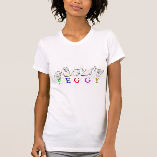 PEGGY FINGERSPELLED ASL NAME SIGN T-Shirt