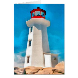 Peggy's Cove Lighthouse Card