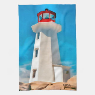 Peggy's Cove Lighthouse Kitchen Towel