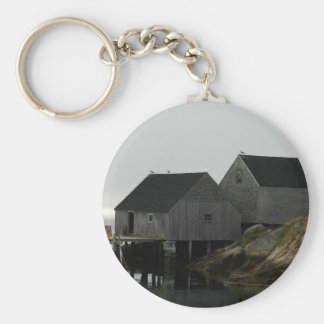 Peggy's Cove Basic Round Button Keychain