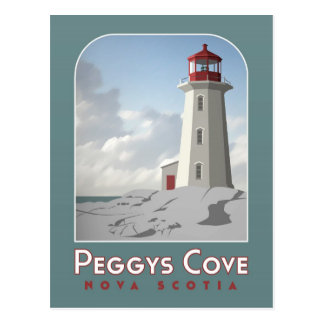 Peggy's Cove Deco Postcard
