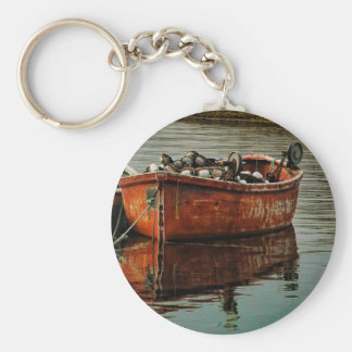 Peggy's Cove Fishing Boat Basic Round Button Keychain