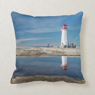 Peggy'S Cove Lighthouse | Canada Throw Pillow