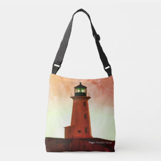 Peggy's Cove  Lighthouse Nova Scotia shoulder bag