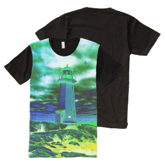 Peggy's Cove Lighthouse Route American Apparel All-Over-Print T-Shirt