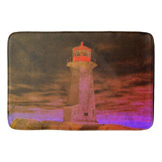 Peggy's Cove  Lighthouse Route Nova Scotia mat Bath Mat