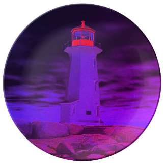 Peggy's Cove Lighthouse Route plate purple
