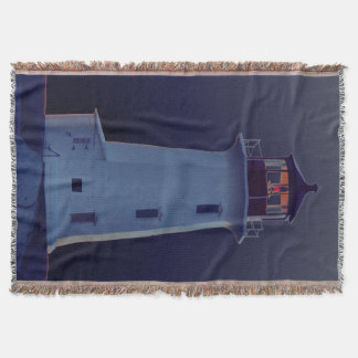 Peggy's Cove  Lighthouse  Route Throw Blanket blue