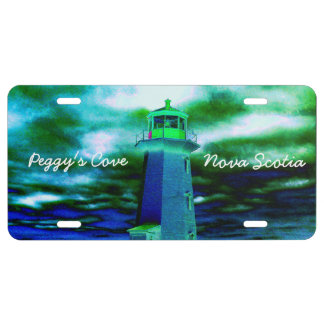 Peggy's Cove N.S. Lighthouse License plate