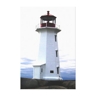Peggy's Cove Nova Scotia Canada Custom Canvas