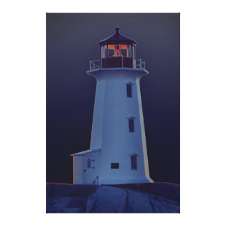 Peggy's Cove Nova Scotia Canada Custom Canvas blue