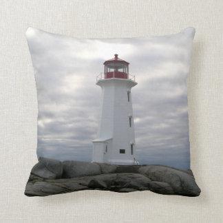 """""""Peggy's Cove Nova Scotia""""""""Lighthouse Route"""" Throw Pillow"""