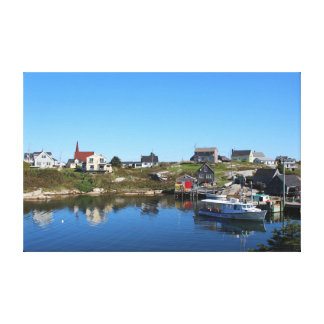 Peggy's Cove Village Canvas Print
