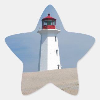 Peggy's Point Lighthouse Star Sticker