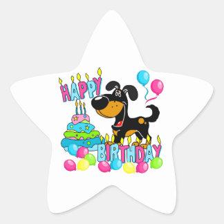 PEGUI Pups Happy Birthday - Bubba Star Sticker