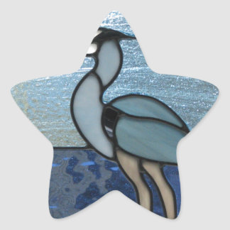 PEI Blue Heron Star Sticker