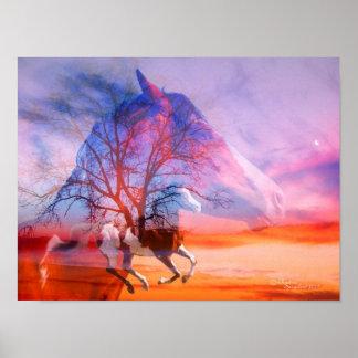 Peignez l affiche de rêves d arbre de cheval