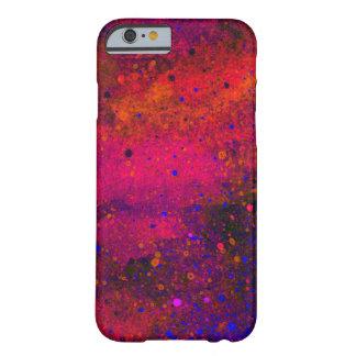 Peignez la texture d'éclaboussure dans rose rouge coque barely there iPhone 6