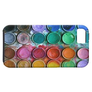 Peignez le cas de l'iPhone 5 de boîte de couleur